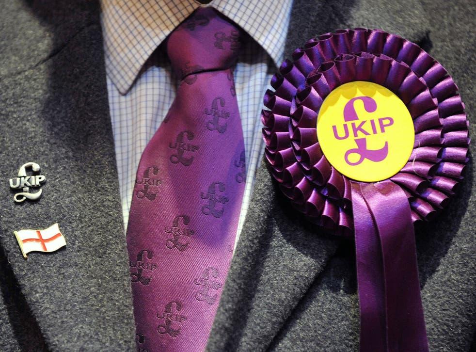 A UKIP candidate's rosette
