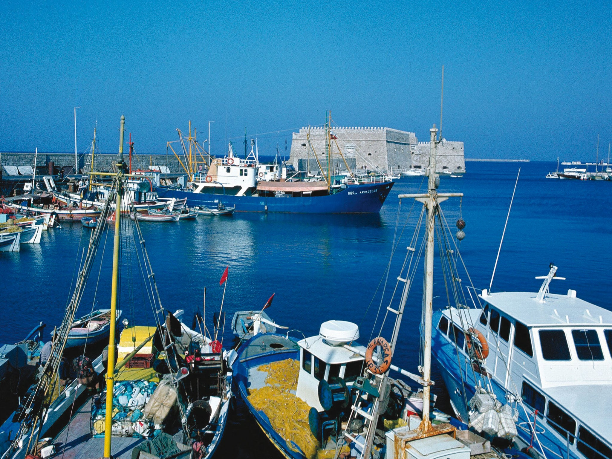 Crete: 'We could be a family two centuries ago ... apart from the fridge'
