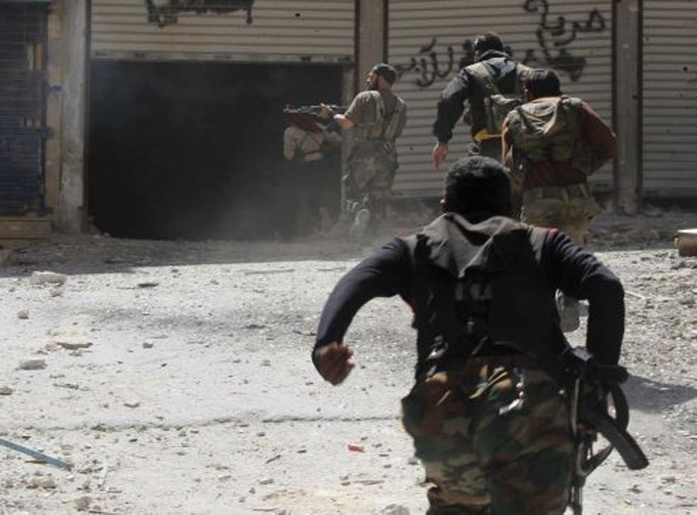 Memebers of the rebellious Free Syrian Army, who have been fighting in the country's civil war for over two years