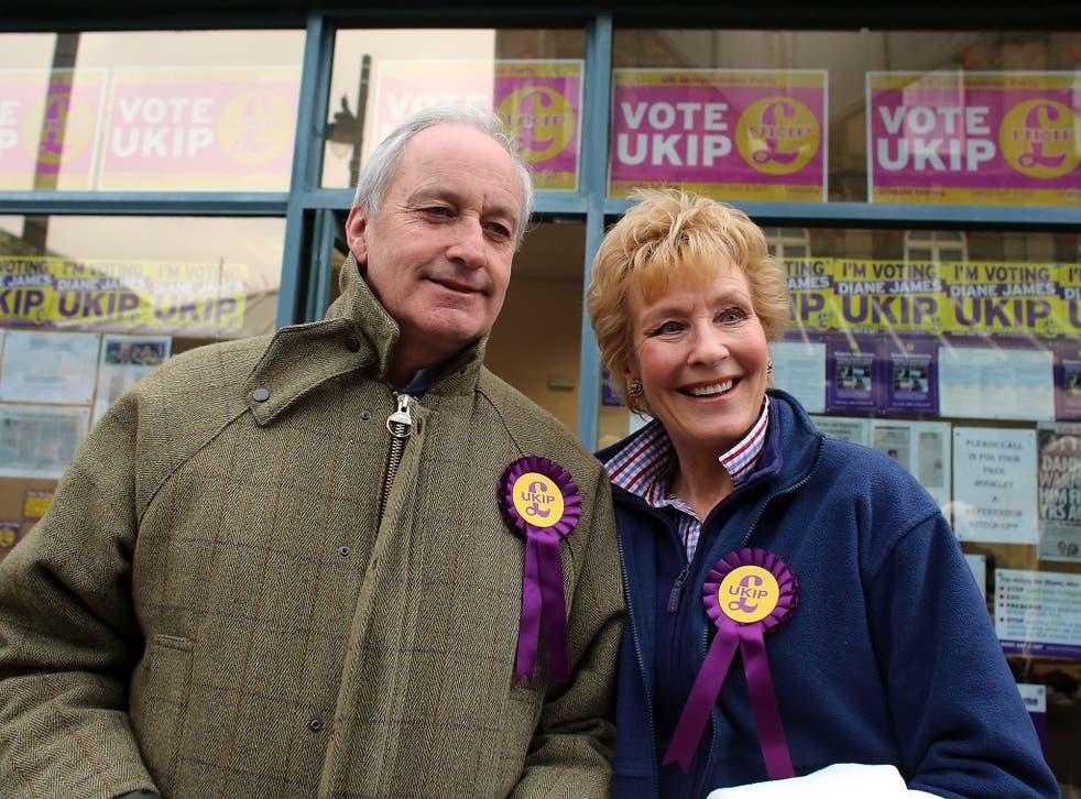 Ukip MEP member Neil Hamilton and broadcaster Christine Hamilton
