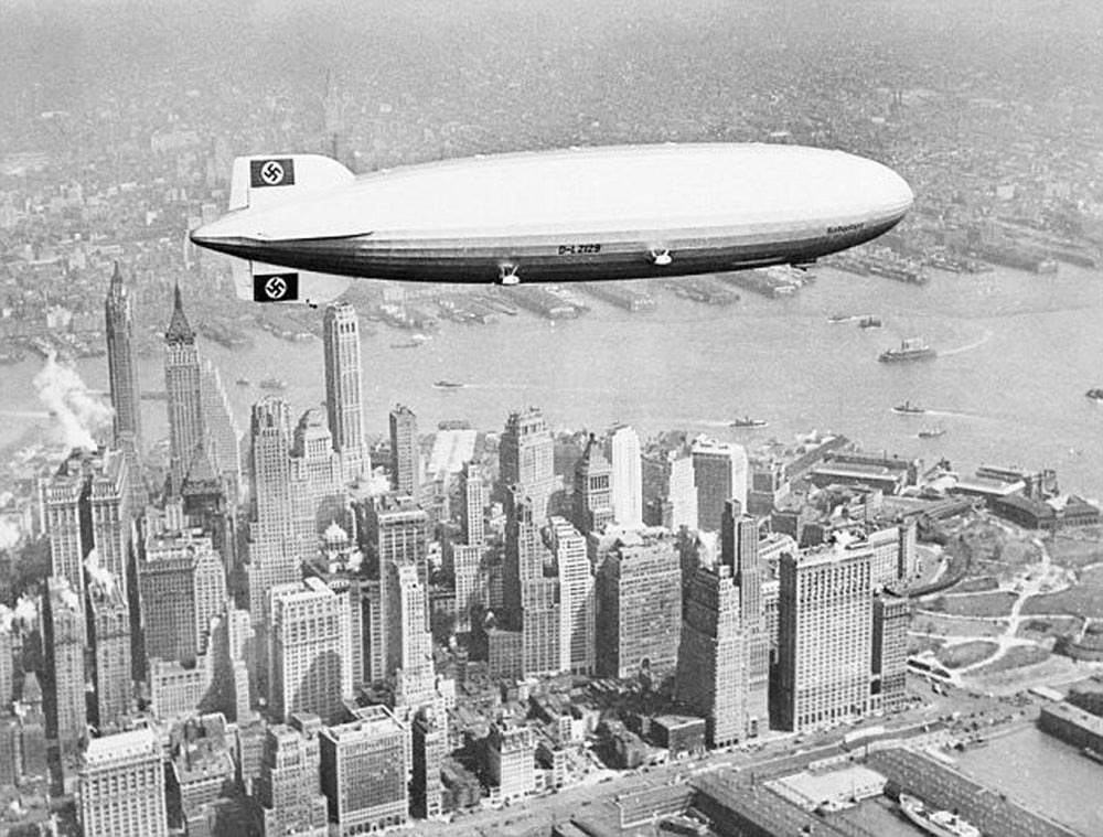 Image result for Hindenburg above new york