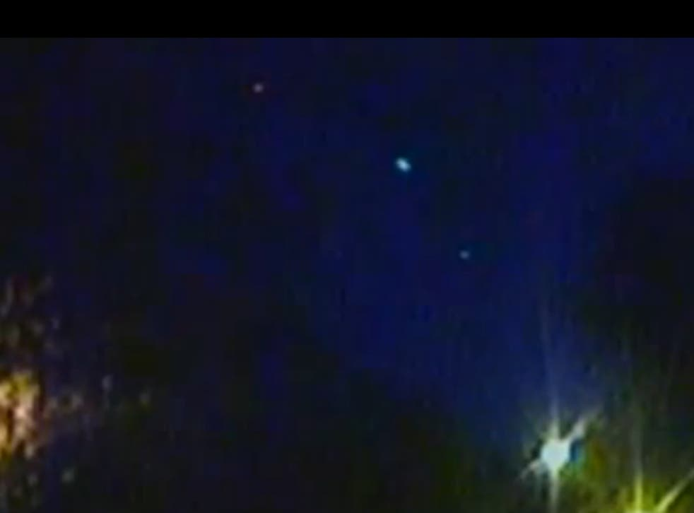 The meteor crosses the sky above Cardiff