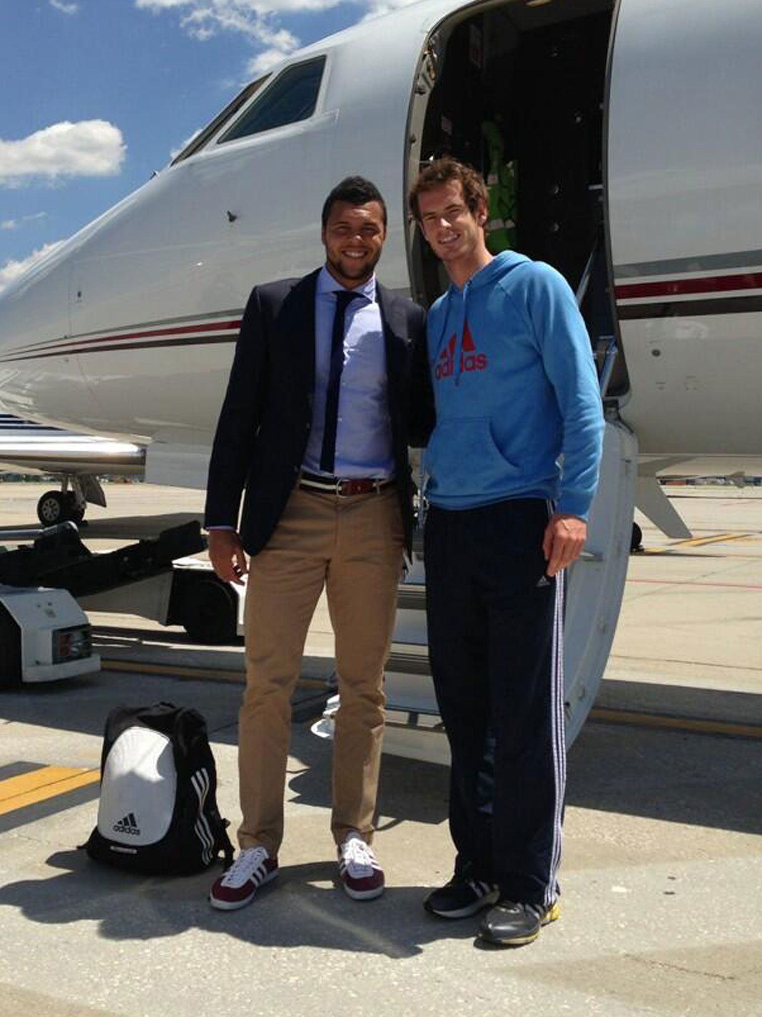 Andy Murray Joins The Jet Set In Attempt To Conquer Rome