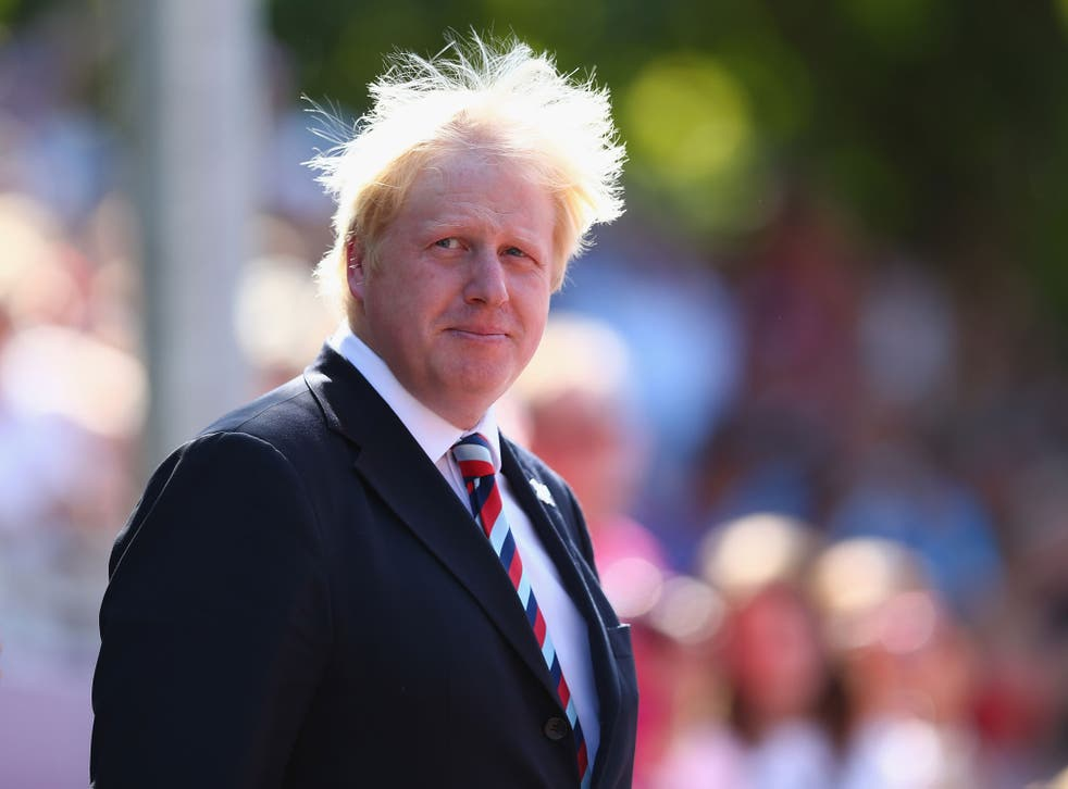 Boris Johnson, Mayor of London looks on during the presentation ceremony of the Men's T54 Marathon on day 11 of the London 2012 Paralympic Games at Olympic Stadium on September 9, 2012 in London, England.