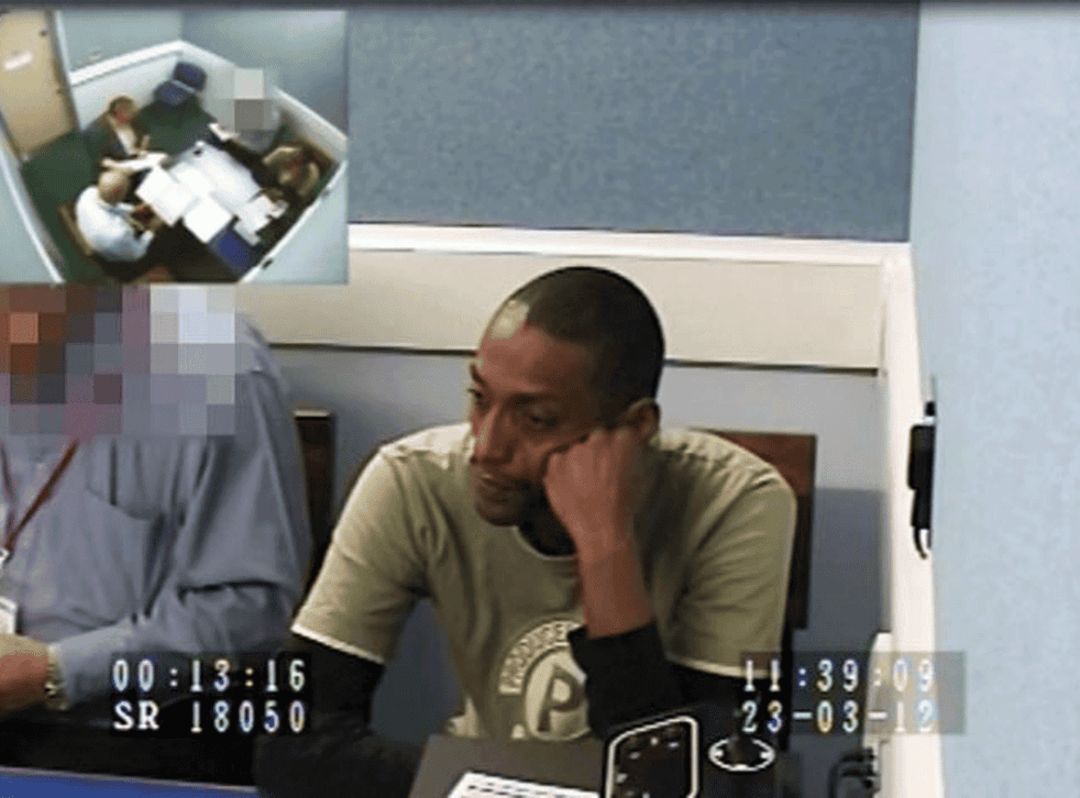 Mohammed  Karrar, 38, during an interview with the police. He was convicted of two counts of sexual activity with a child on the sex ring case (PA)