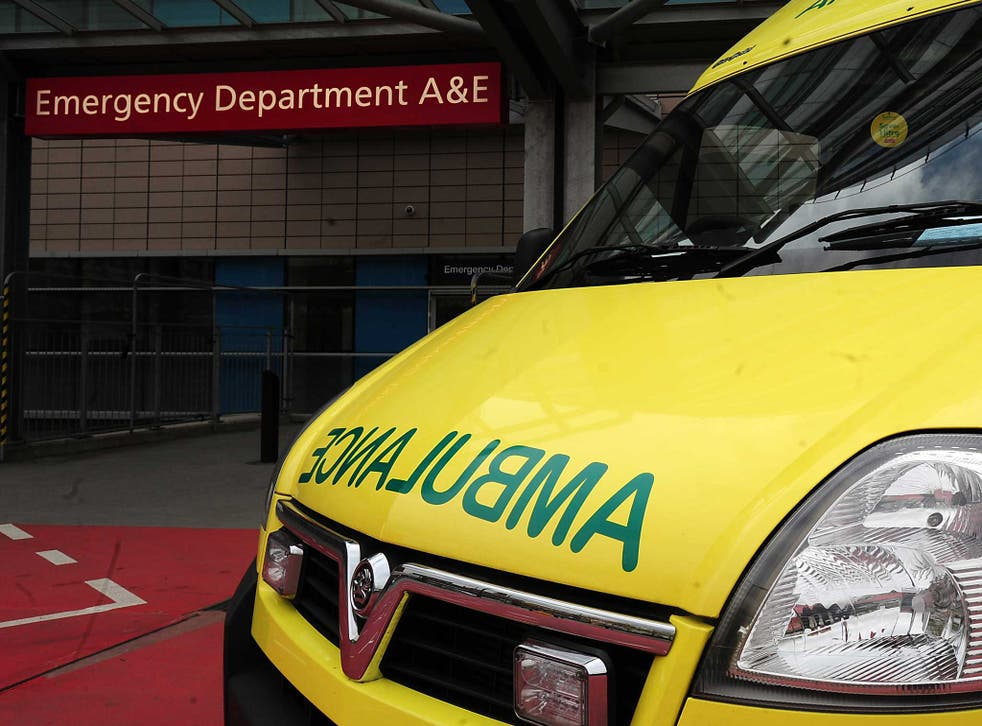 An entire A&E hospital ward was evacuated by emergency fire crews on Friday evening, after a woman brought a bottle of weed killer into the unit.