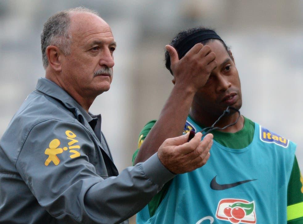 Ronaldinho with Scolari