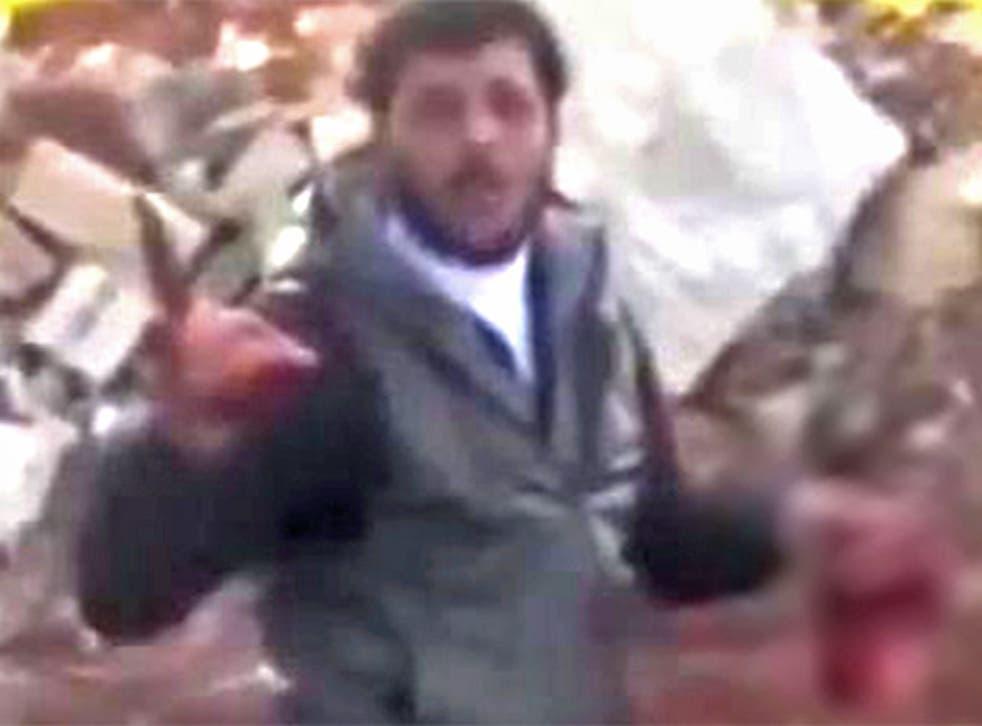 Abu Sakkar, the man who has introduced cannibalism into the Syrian civil war