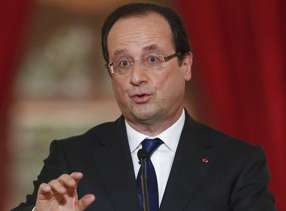President François Hollande: 'The chemical massacre in Damascus cannot go unpunished'