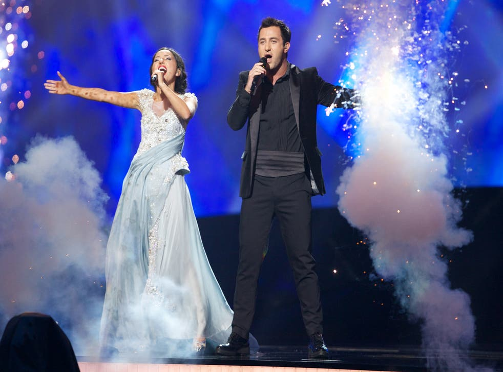Georgia's 2013 entry Nodi Tatishvili & Sophie Gelovani performing 'Waterfall'