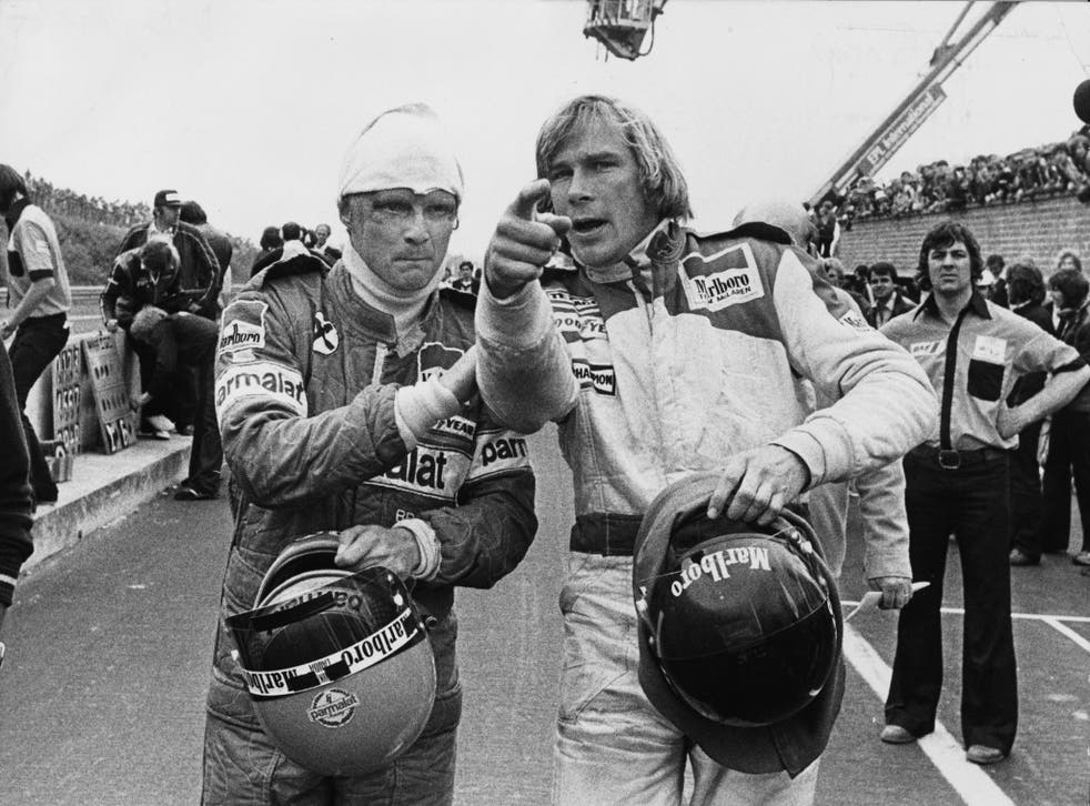 Hunt and Niki Lauda in their 1970s heyday