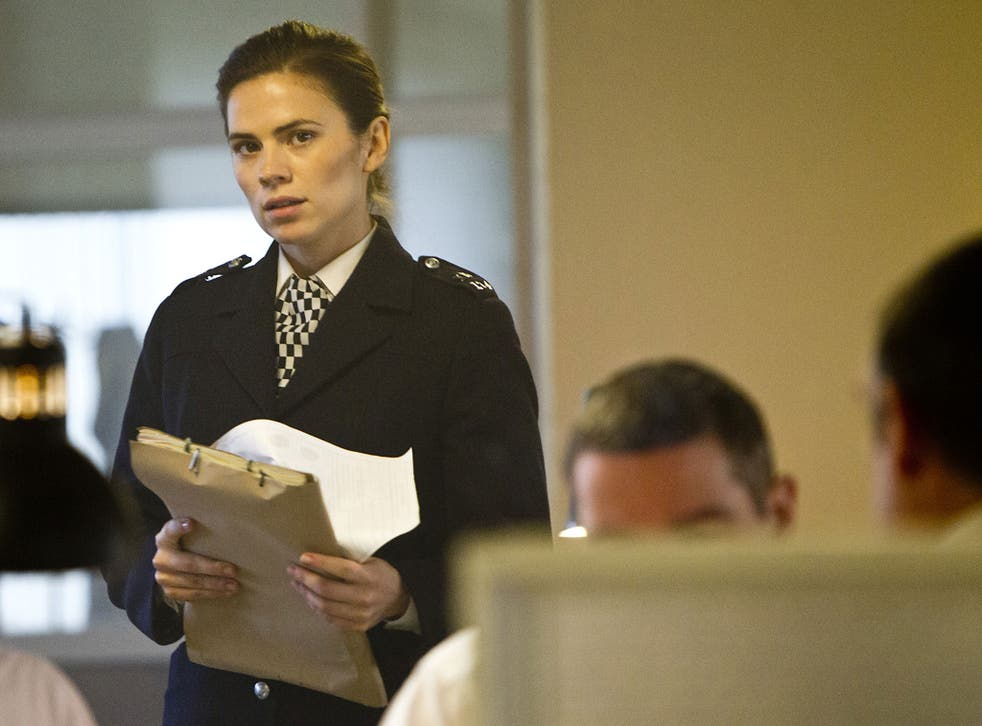 Woman's work: Hayley Atwell plays a cop with skeletons in the cupboard in ITV's drama series Life of Crime