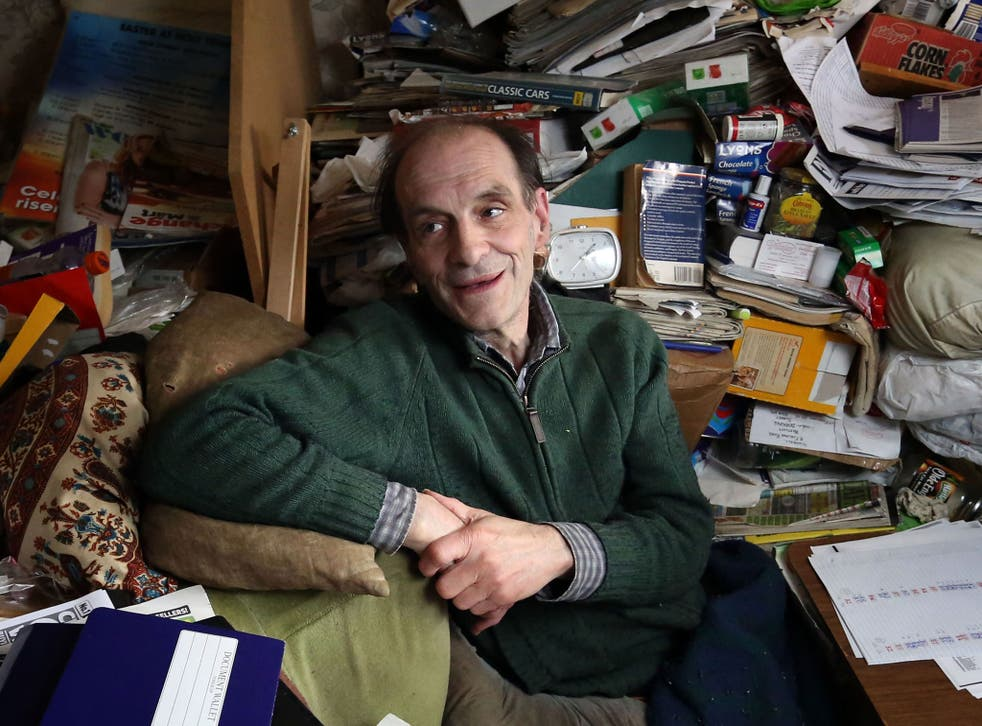 Job lot: Richard Wallace with a part of his collection in his bedroom/office