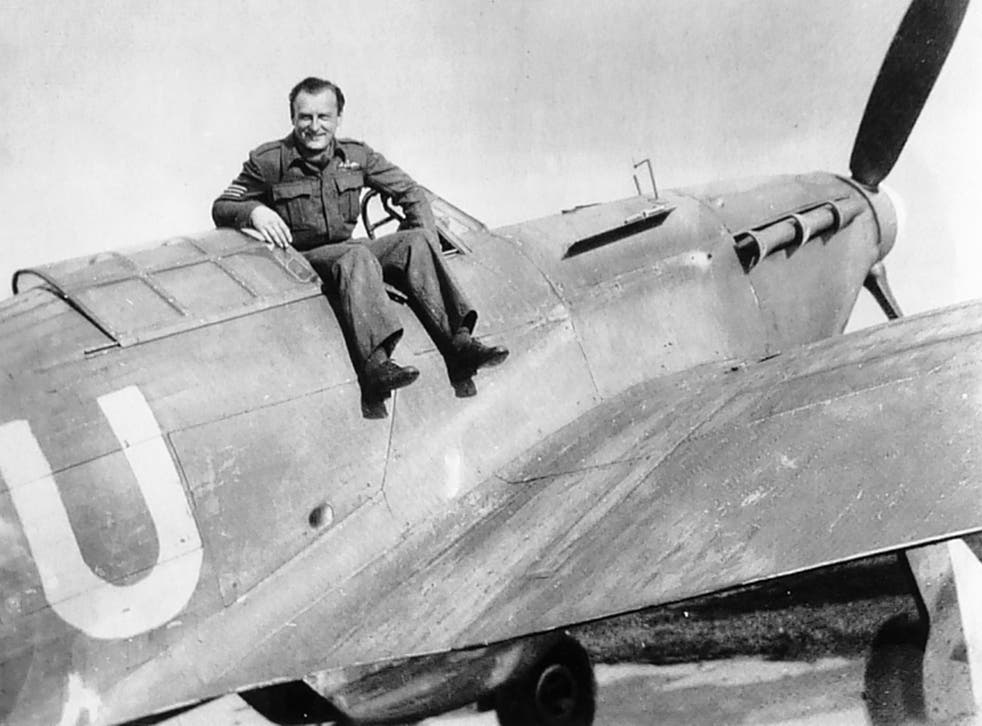 Skarvada aboard his Hurricane at RAF Dyce, Aberdeen, in 1941; 480 Czech pilots died flying for Britain