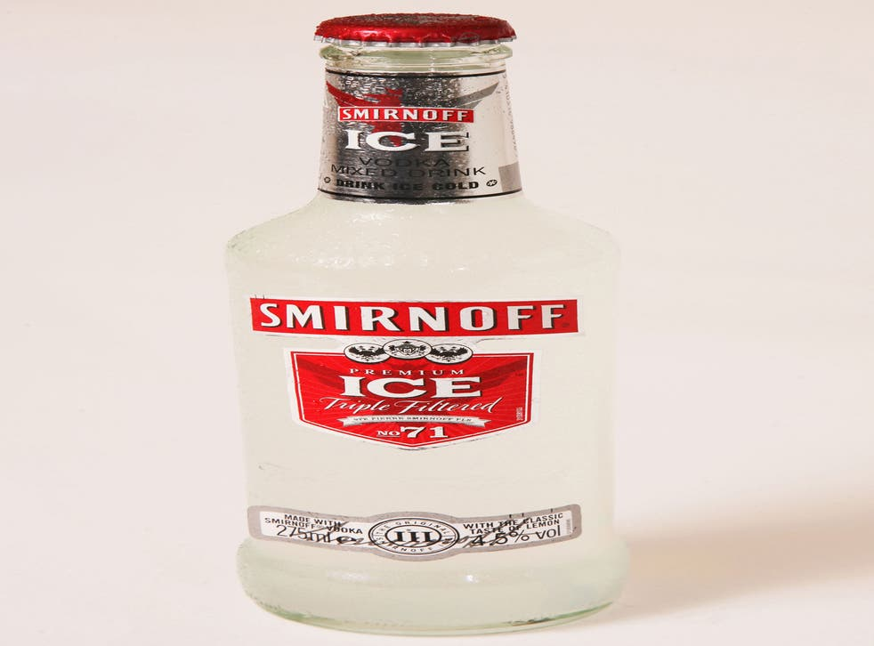 Bottles of Smirnoff Ice were used to toast the nuptials of Verity Evetts and Christopher Buchanan