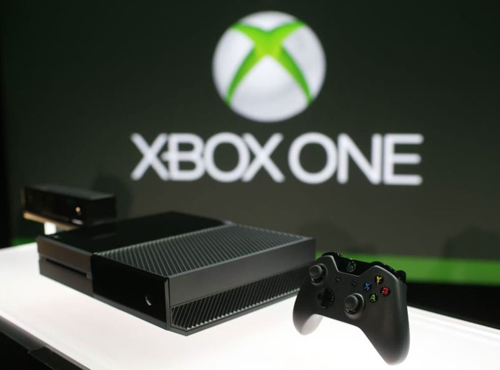 Xbox One is shown on display during a press event unveiling Microsoft's new Xbox in Redmond, Washington