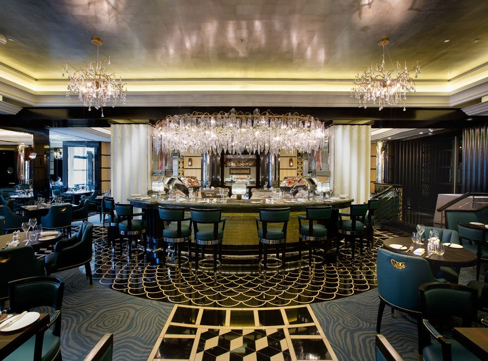 The restaurant's faux-casual affectations are at odds with the high-sheen of the Twenties-inspired décor