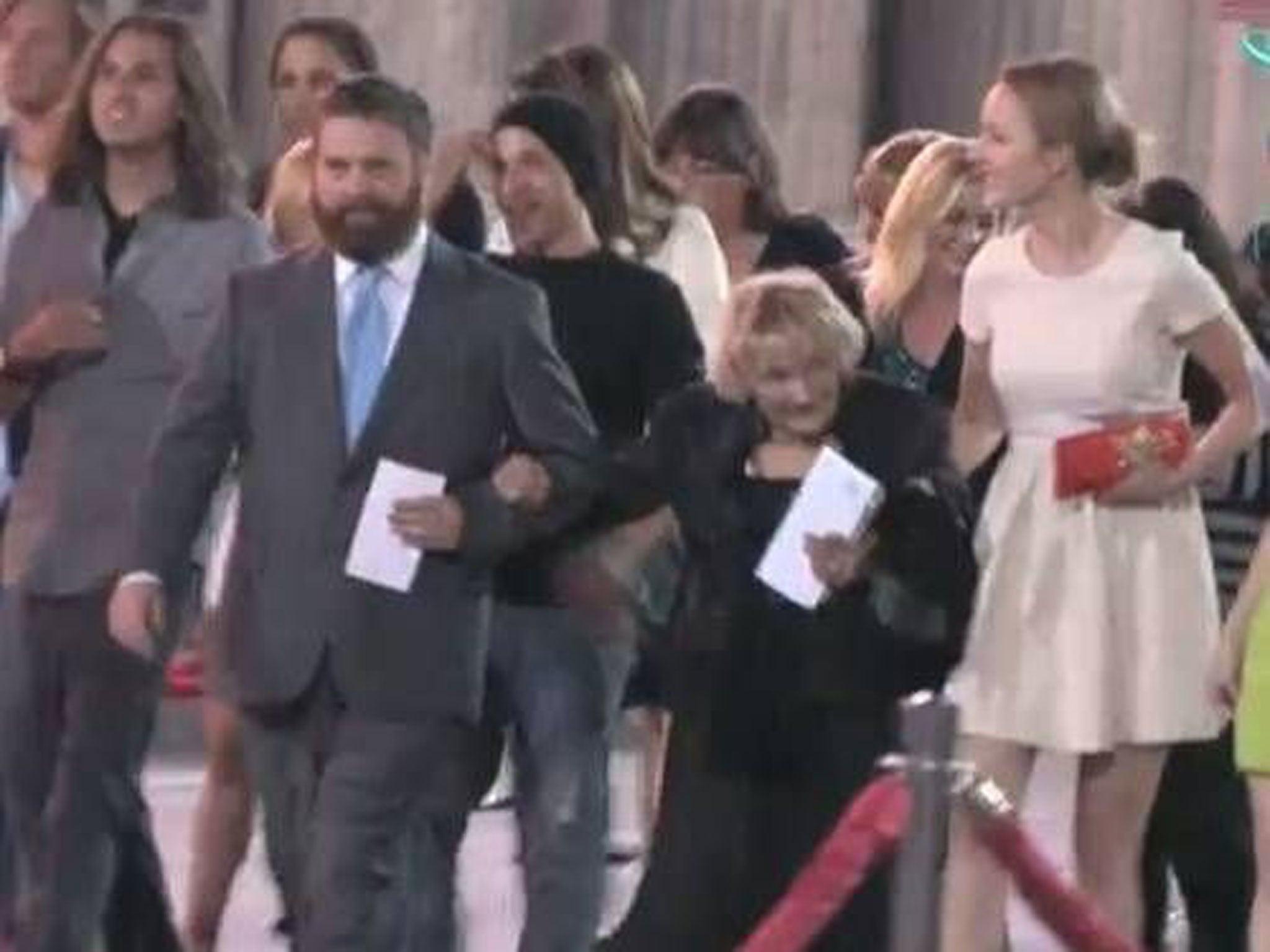Zach Halifianakis saved a homeless old woman