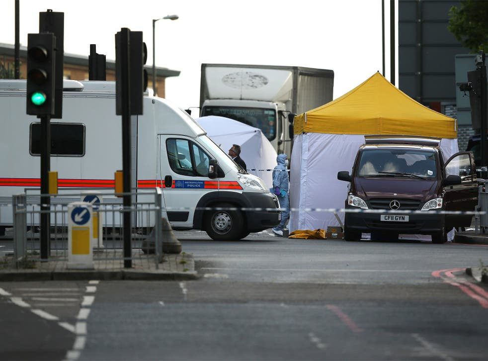Crime Officers at the scene in Woolwich