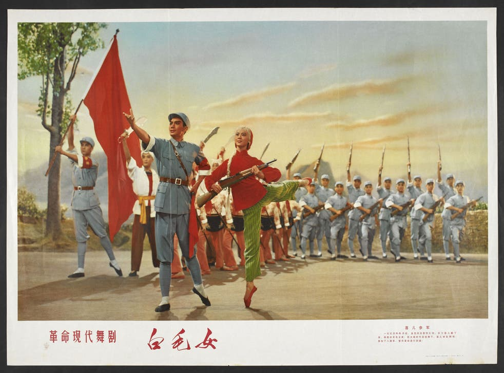 Poster for 1950 film The White Haired Girl, a traditional story adapted to show how the lives of Chinese peasants were improved by the Communist Party