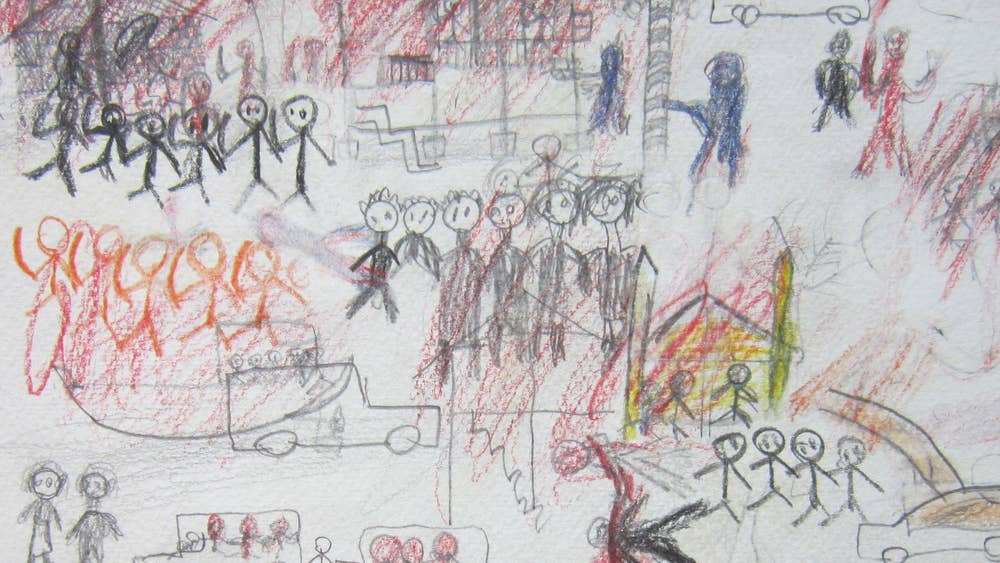 Childs View Of Burmas Horror The Crayon Drawings That Reveal