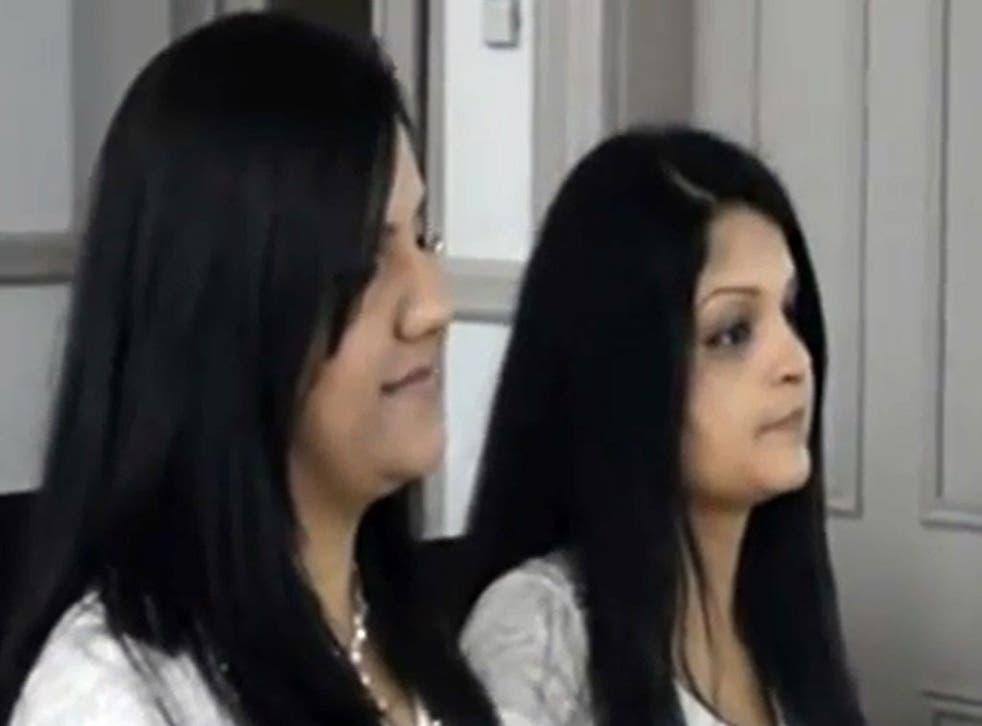 Rehana Kausar, left, and Sobia Kamar said they had met while studying
