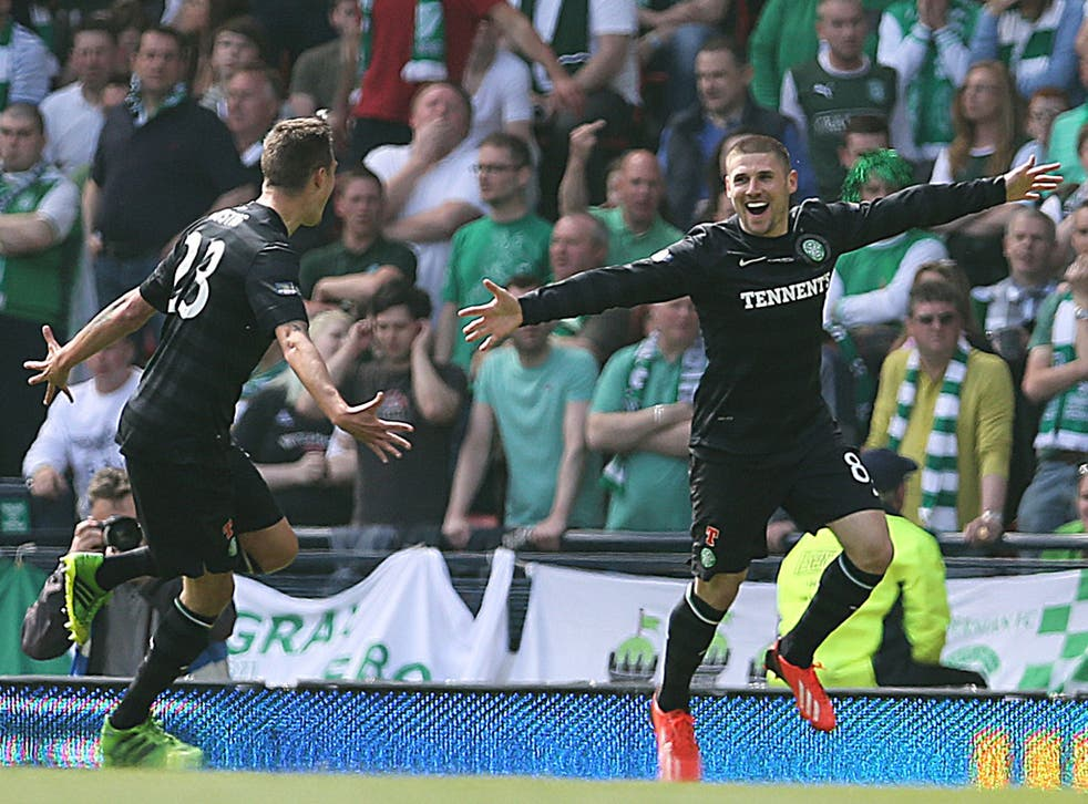 Gary Hooper was Celtic's two-goal hero in yesterday's final