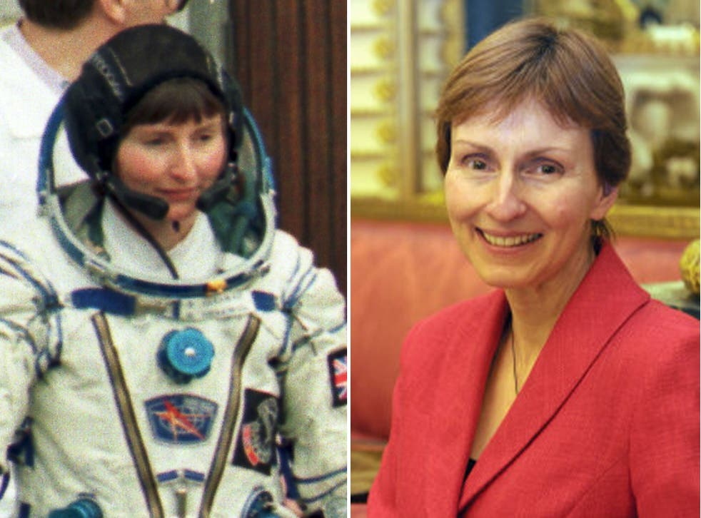 Britain's cosmonaut Helen Sharman then, left, and now, right. Her advice to fellow British astronaut Tim Peake was simply 'Don't forget to look out of the window'
