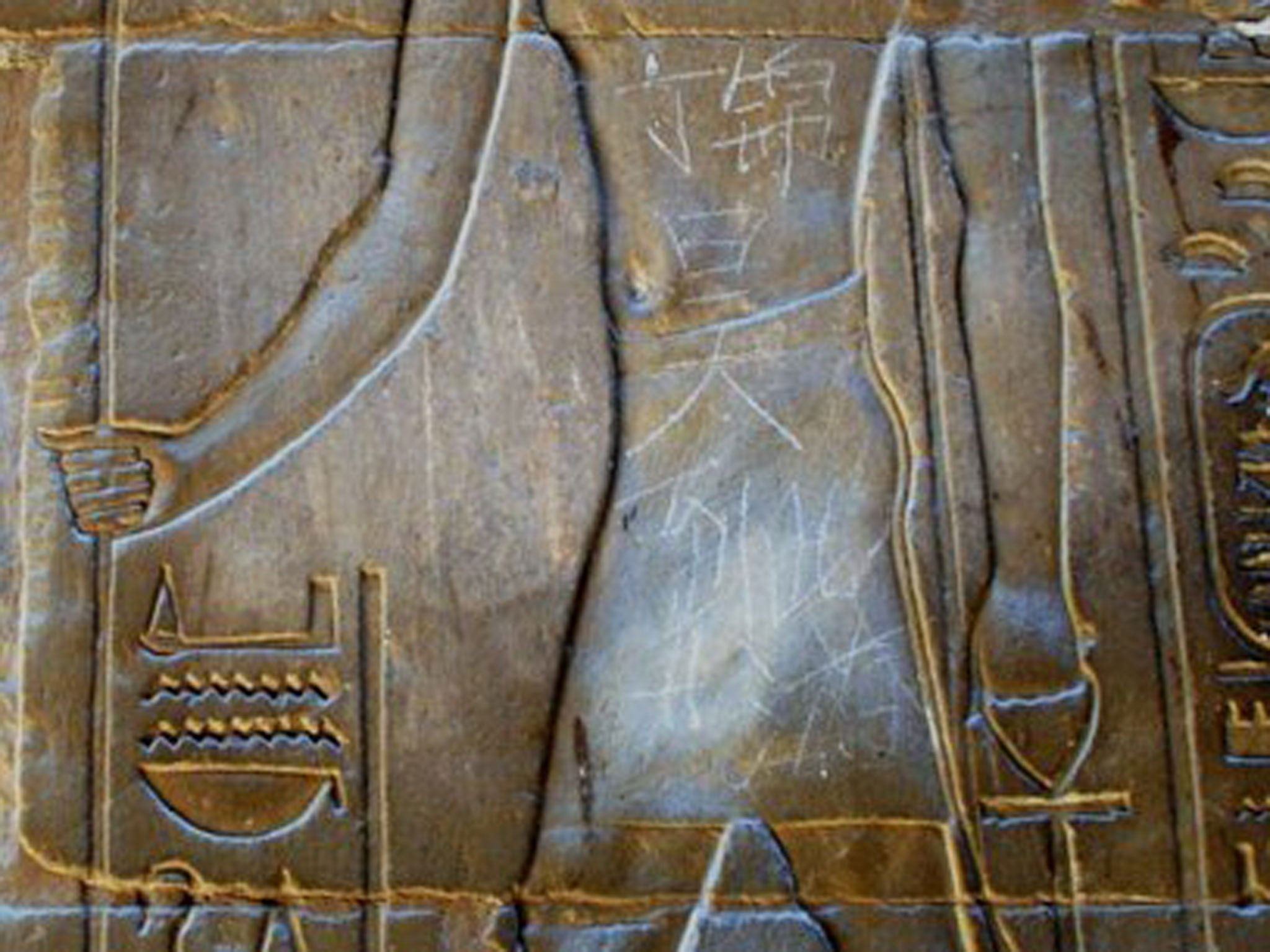 Chinese schoolboy, 15, exposed as Egypt's ancient temple graffiti
