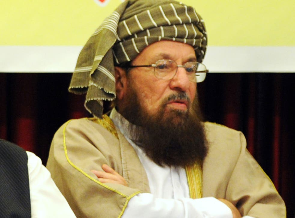 Nawaz Sharif hopes the 'Godfather of the Taliban' Sami ul Haq, pictured, can help in negotiations with Islamists
