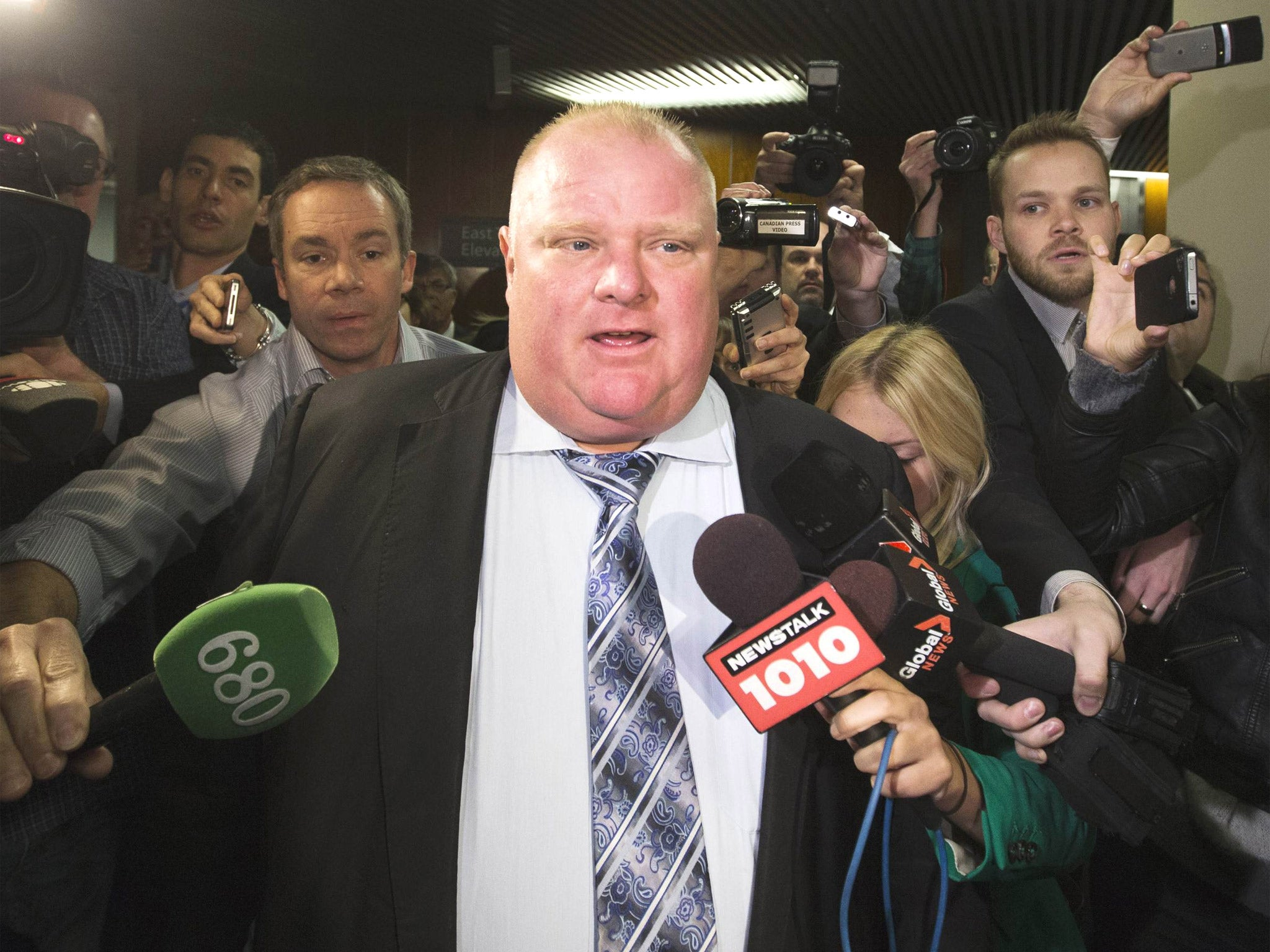 Toronto mayor Rob Ford has higher approval rating than Cameron and Obama despite crack smoking