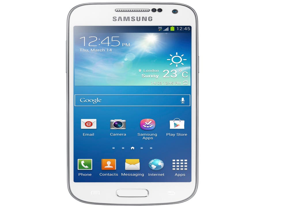 The new Samsung Galaxy S4 Mini in white