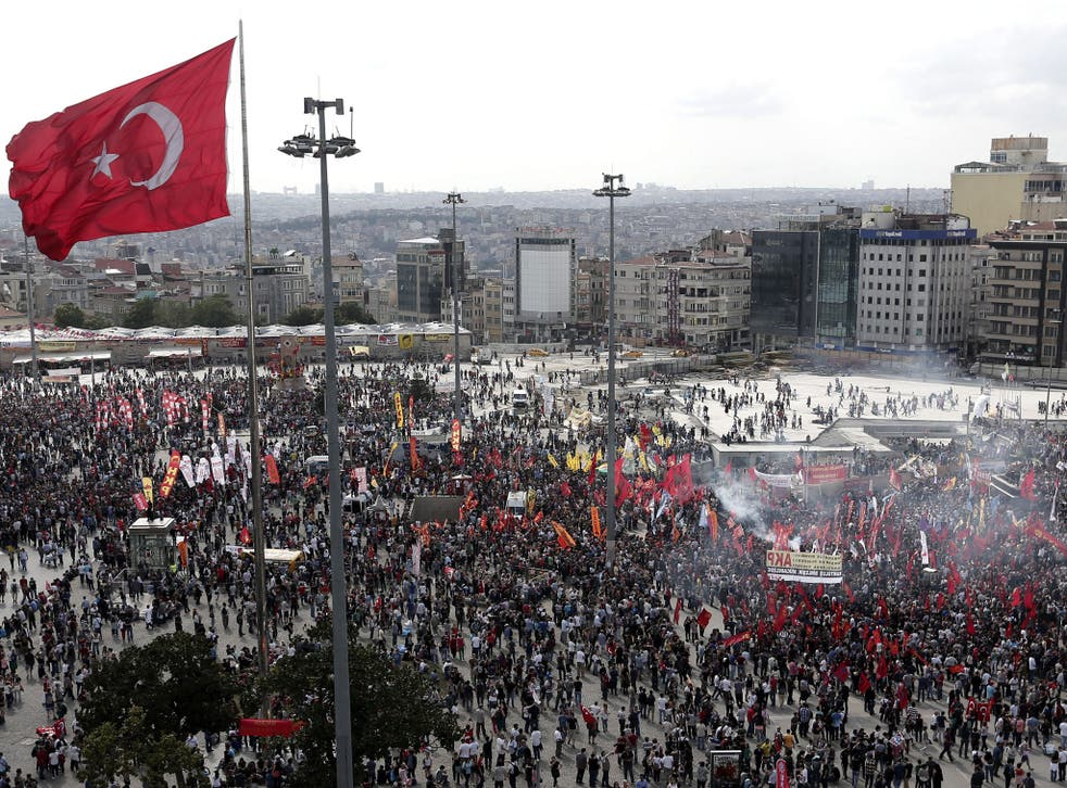 Thousands of protesters gathered in Istanbul