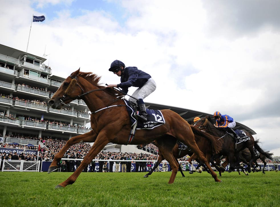 Ryan Moore on Ruler Of The World wins the Derby