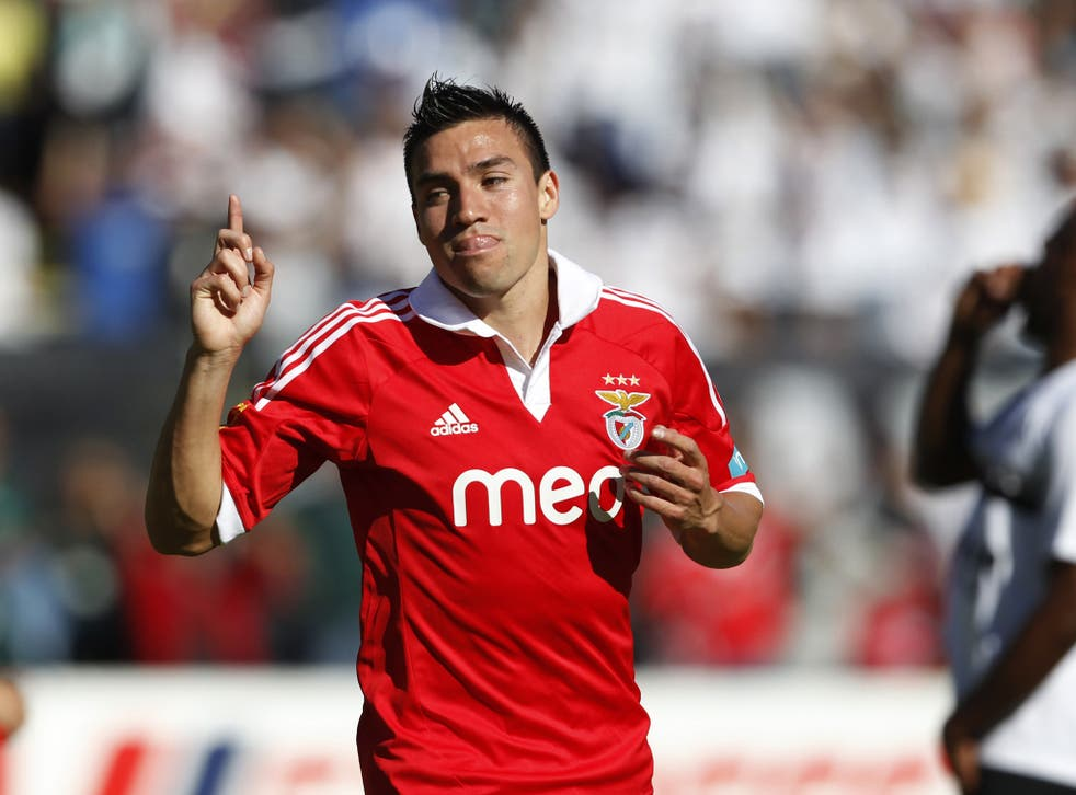 Benfica's Nicolas Gaitan has been watched by Spurs scouts