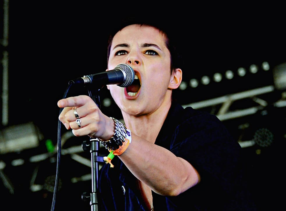 Making her point: Jehnny Beth, lead singer of Savages