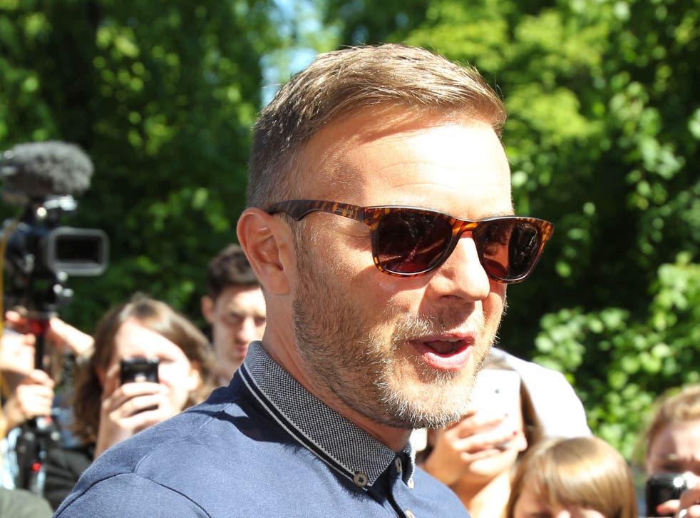 X Factor judge Gary Barlow in Glasgow.