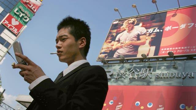 Football favourite: A David Beckham advert in Tokyo