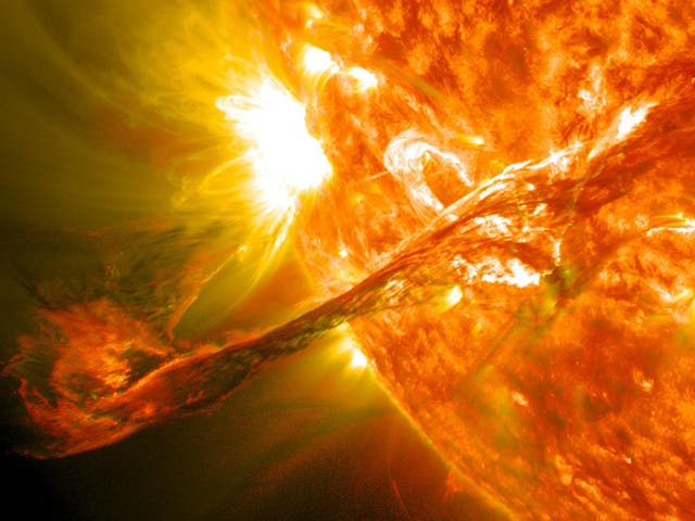 Extreme solar prominence