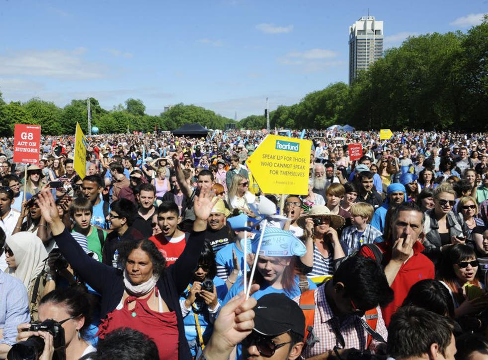 IF supporters in Hyde Park yesterday