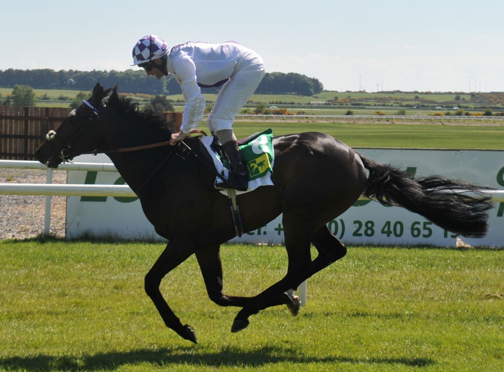 Trading Leather wins the Listed Silver Stakes at the Curragh yesterday