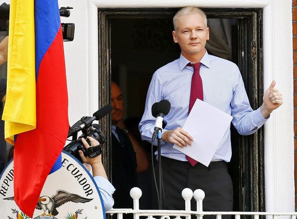 Julian Assange has been holed up in Ecuador's west London embassy for a year