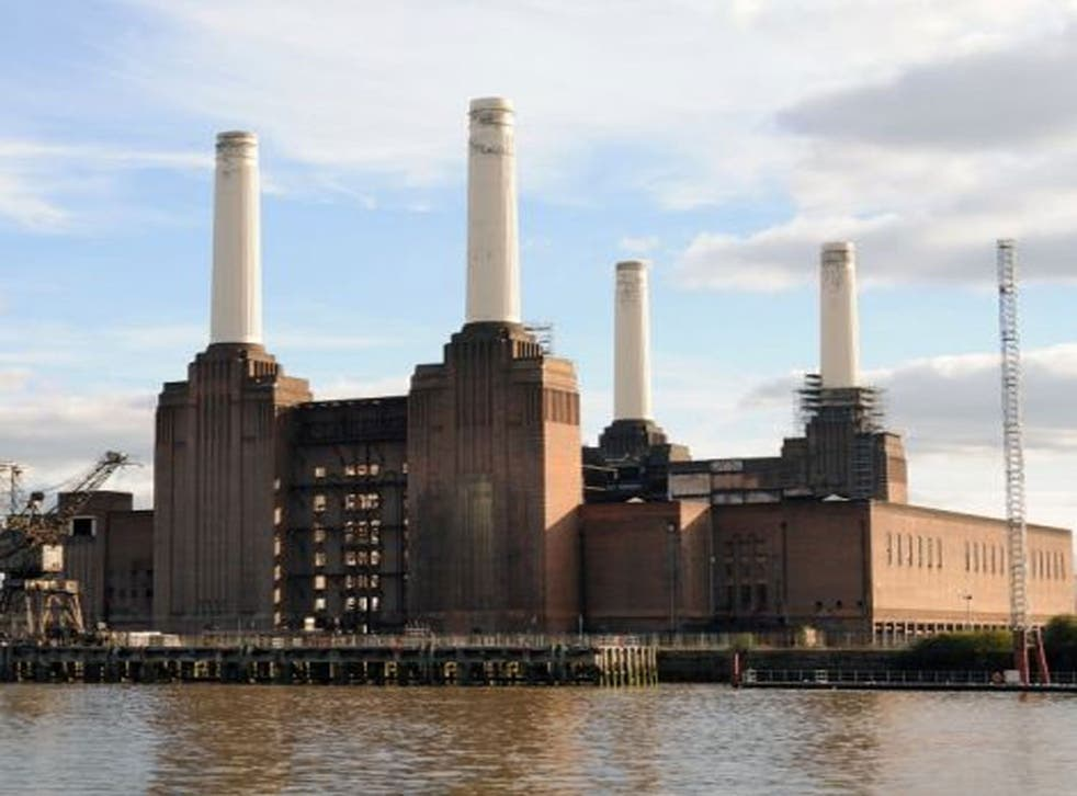 Here's what the decommissioned Battersea Power Station currently looks like