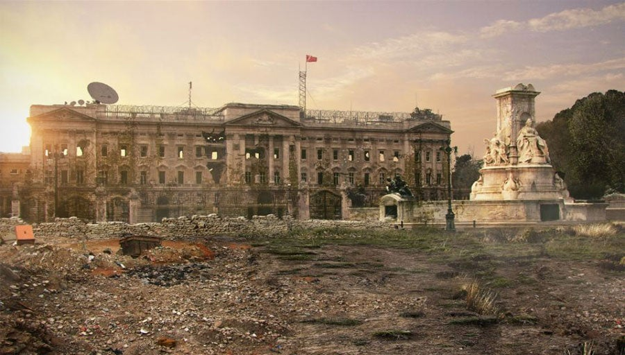 A Vision Of Postapocalypse Britain Eerie Computergenerated - Digital artist places pop culture icons in eerie apocalyptic scenes