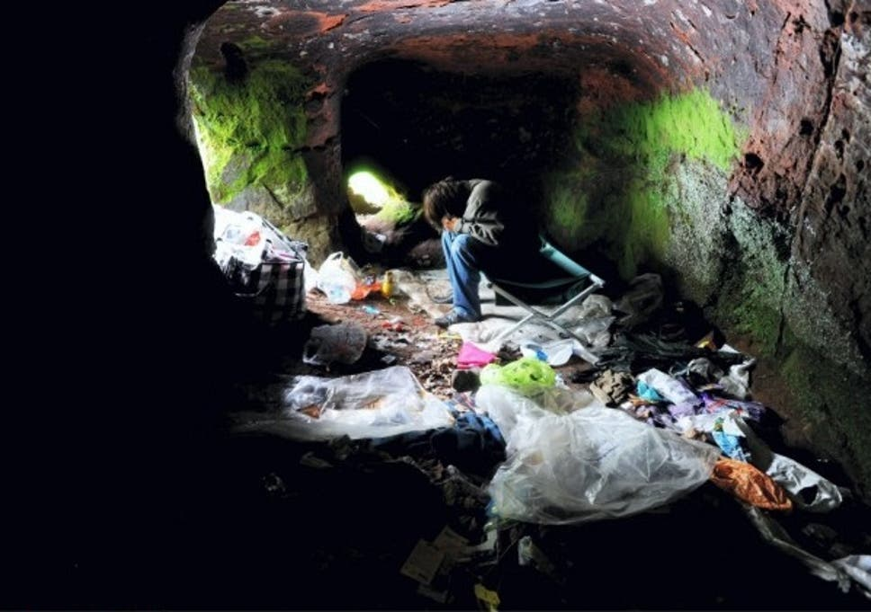 Caves in Stockport where homeless are living