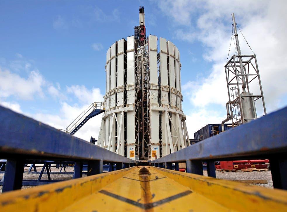 A Cuadrilla shale fracking facility in Preston