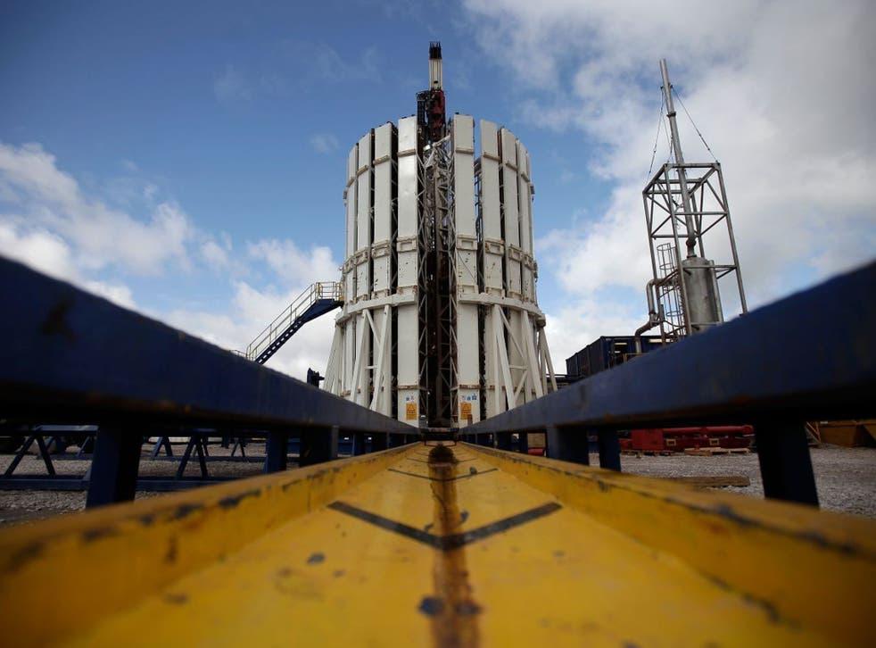 A Cuadrilla shale fracking facility in Preston, Lancs