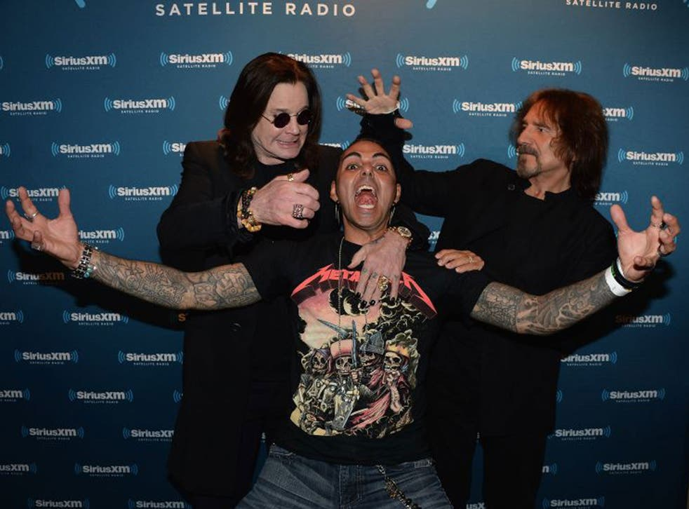 """Ozzy Osbourne, Jose Mangin and Geezer Butler attends the Black Sabbath Town Hall Event Celebrating The Release of """"13""""  at The Angel Orensanz Foundation"""