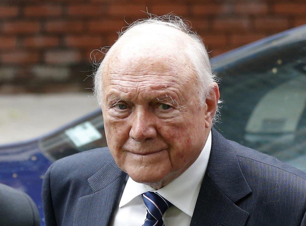 Former broadcaster Stuart Hall arrives at Preston Crown Court, in Preston northern England