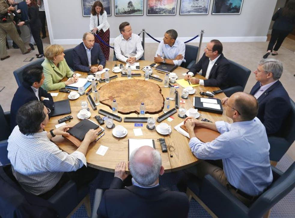 Leaders of the world's most powerful nations papered over their differences on Syria to agree a joint position at the G8 summit